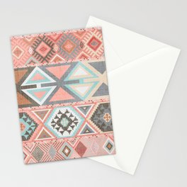 Aztec Artisan Tribal in Pink Stationery Cards