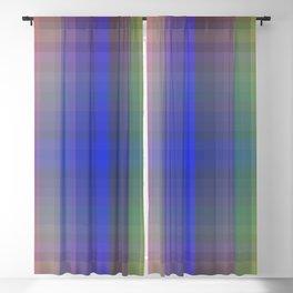 P003 Rainbow Plaid Blackout Curtain