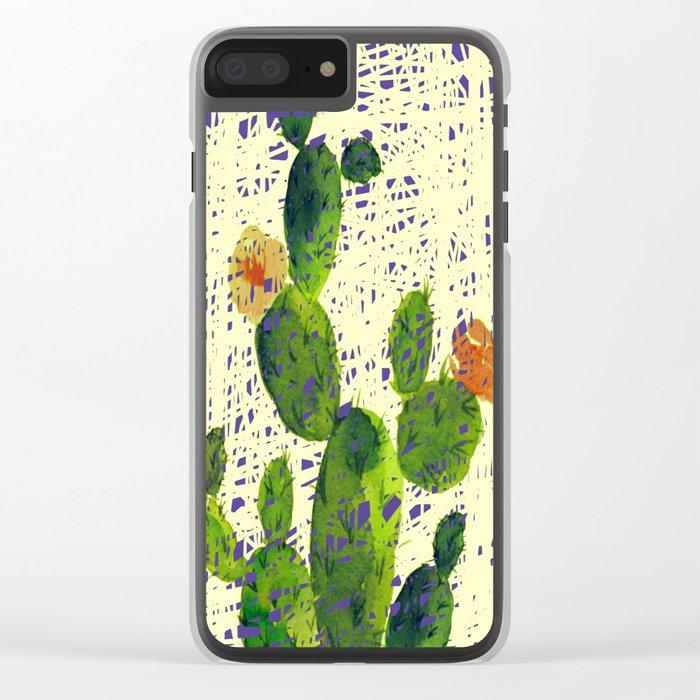 weird cactus Clear iPhone Case