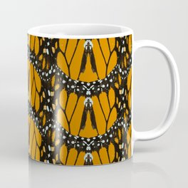 Monarch Butterfly Wings Abstract Patterned Print Coffee Mug
