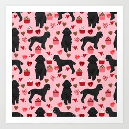 Poodle black valentines day gifts for dog lover poodle owners must haves special valentine Art Print