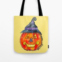 jack Tote Bags featuring Jack by Shelley Ylst Art