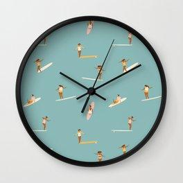 Surf girls Wall Clock