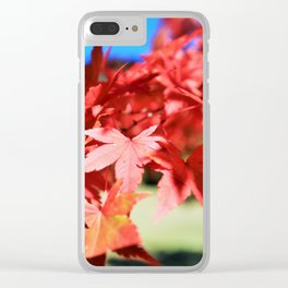 Japanese Maple Leaves 2 Clear iPhone Case