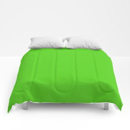 Simple Solid Color Yellow Green All Over Print Comforters