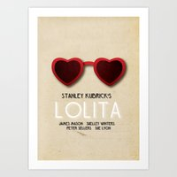 lolita Art Prints featuring Lolita by Linda Hordijk