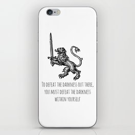 TO DEFEAT THE DARKNESS iPhone Skin