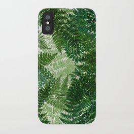 green big jungle leaves iPhone Case
