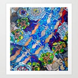 Austin Tiles Art Print