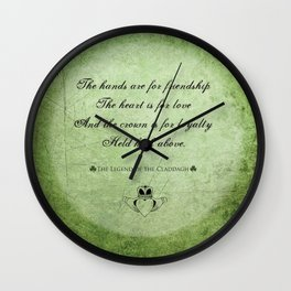 Claddagh ~ Love, Loyality, and Friendship Wall Clock
