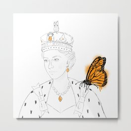 Two Monarchs Metal Print