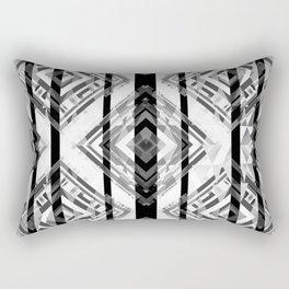 Black and White Tribal Boho Rectangular Pillow