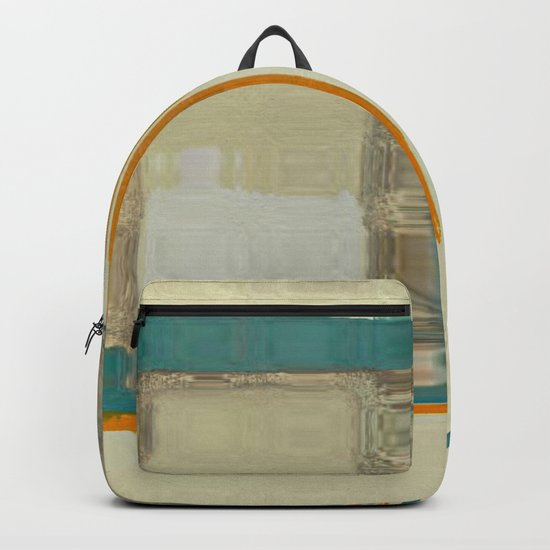 Mid Century Modern Blurred Abstract Backpack