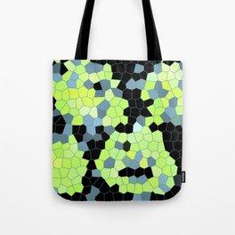 Cell Print Home Decor Graphic Design Pastel Colors Green Grey Blue Black Mint Lime Kiwi Tote Bag