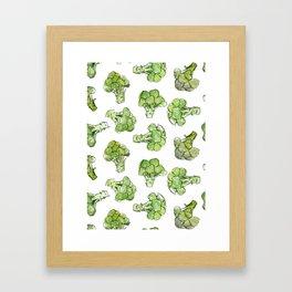 Broccoli - Scattered Framed Art Print