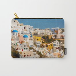 Colorful Seaside Santorini Island Homes Carry-All Pouch
