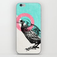 techno iPhone & iPod Skins featuring Techno Crow by Zeke Tucker