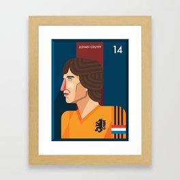 Johan Cruyff, The Godfather of Modern Football Framed Art Print