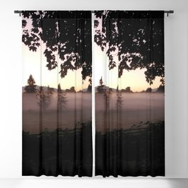 Field of Fog & Trees Blackout Curtain