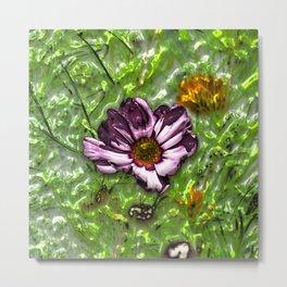 Metal 3D Flowers 01 Metal Print
