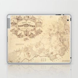 Map Of Dorchester 1850 Laptop & iPad Skin