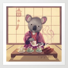 Eucalyptus Tea Ceremony Art Print