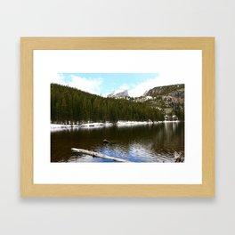 Snow At Bear Lake - Rocky Mountains NP Framed Art Print