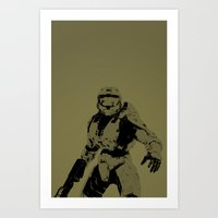 master chief Art Prints featuring Master Chief by Anthony Bellus