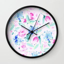 Scattered Lovers Pink Wall Clock