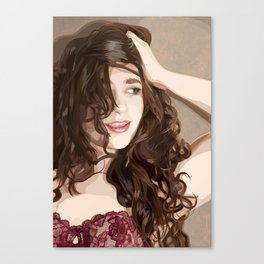 The Covergirl girl Canvas Print
