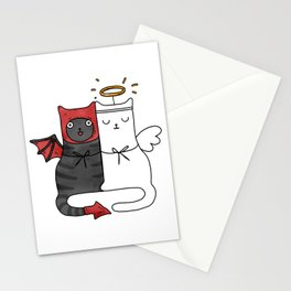 Angel & Demon Cats Stationery Cards
