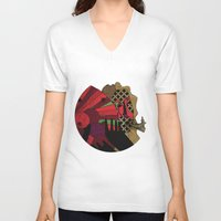 carnival V-neck T-shirts featuring CARNIVAL by NINTH VERTICAL