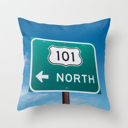 California 101 Throw Pillow