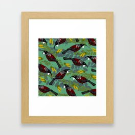 Tui Pattern Framed Art Print