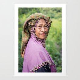 Farmer at work. Flores, Indonesia. Art Print