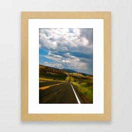 Tilted Road Trip Framed Art Print