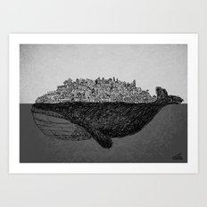 Whale City Art Print