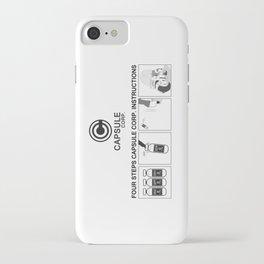 Manga, Dragon Ball, Capsule Corp instruction iPhone Case