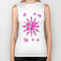 flower pattern Biker Tanks featuring Flower Pattern  by Sammycrafts