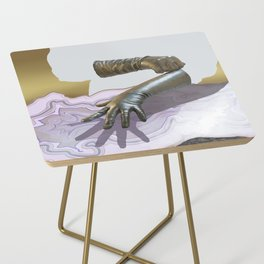 Gloves & Geodes Side Table