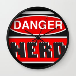 Danger Nerd by Chillee Wilson Wall Clock