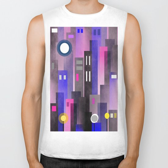 Fun In the City Biker Tank
