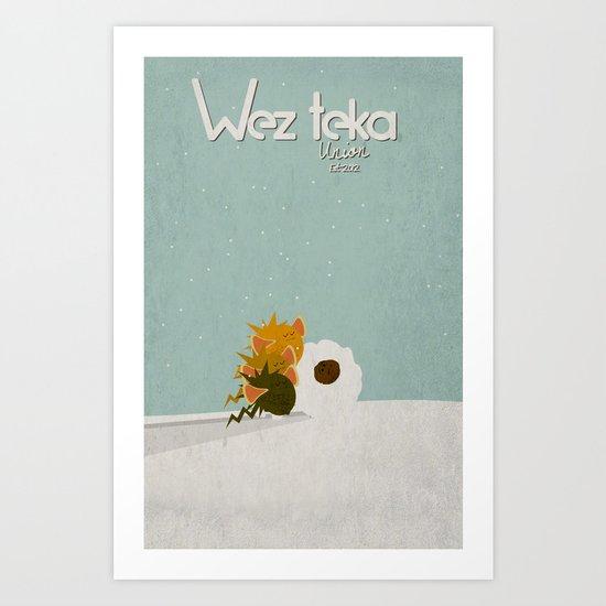"WHY ME!!! ""Snow plow…"" Wezteka Union. Art Print"