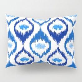 IKAT pattern, indigo blue and white, 07 Pillow Sham