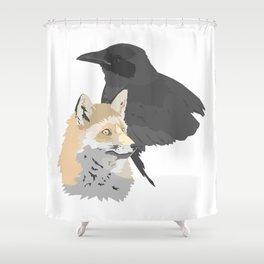 Le corbeau et le renard Shower Curtain