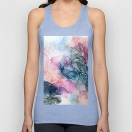Heavenly Pastels: Original Abstract Ink Painting Unisex Tank Top