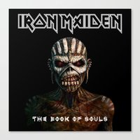 iron maiden Canvas Prints featuring Iron Maiden-Book Of Souls by darma1982