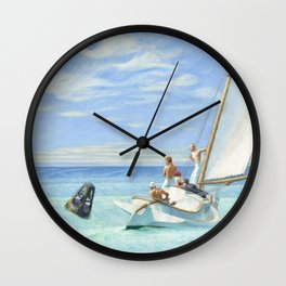 Edward Hopper Ground Swell 1939 Painting Wall Clock