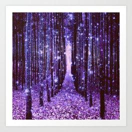 Magical Forest Purple Art Print