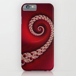 Christmas Red Golden Spiral - Fractal Art iPhone Case